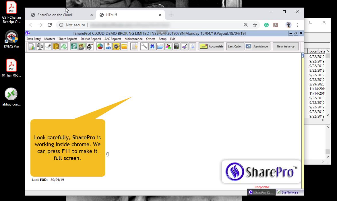 SharePro on Cloud